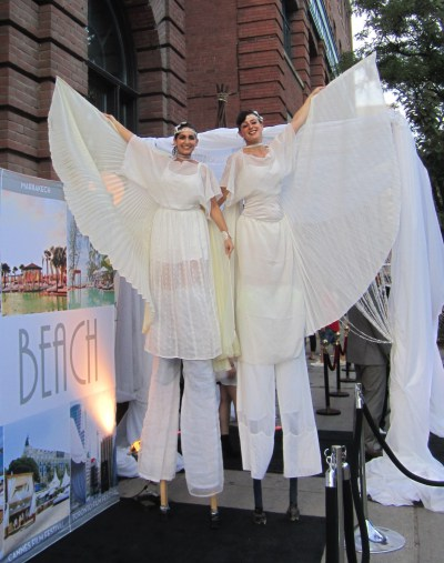 white draping wings