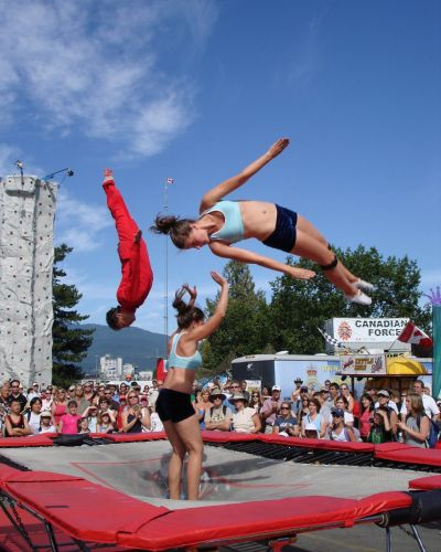 trampoline show